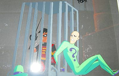 Robin And Riddler Production Cel From The Batman Animated Series Cartoon
