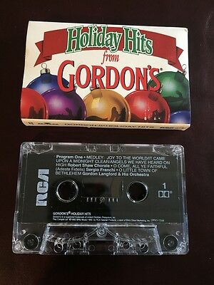 Glenmore Distillers Gordon's Gin Advertising Holiday Hits Xmas Cassette Tape