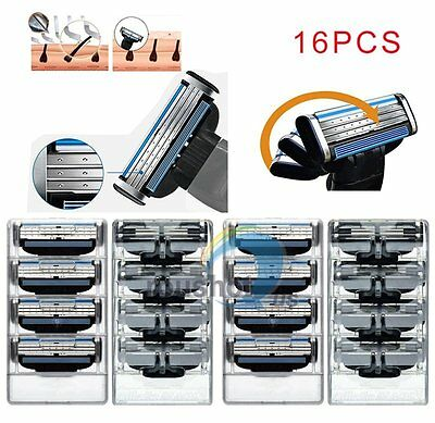 16Pcs/4 Pack Replacement Blades Cartridges For Gillette Mach 3 Shaving Razor