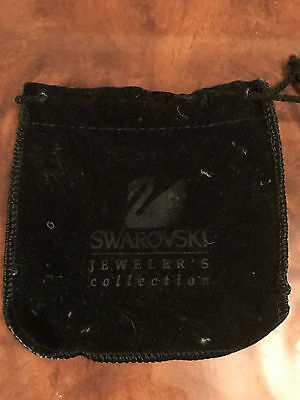 Lot Of 3 Jewelry Bags Coin Pouches Swarovski Black Jewelers Money Bag Velvet