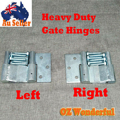 Steel Gate Hinge Heavy Duty Ball Bearing Hinges with Screws Left & Right &a Pair