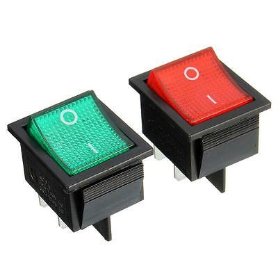 Latching Rocker Switch Power Switch I/O 4 Pins With Light 16/20A 250/125VAC KCD4