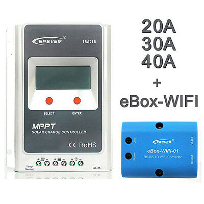 EPEVER 20/30/40A MPPT Solar Panel Controller Charge MT50 Wifi Server EBOX-WIFI