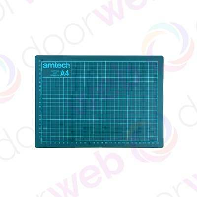 AMTECH A4 CUTTING MAT Printed Grid Lines Non Slip Hobby Craft Knife Board GREEN