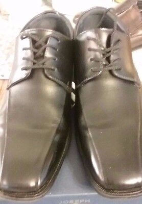 Mens Gently Used Joseph Abboud Black Lace Up Dress Shoes Sz 8.5 M