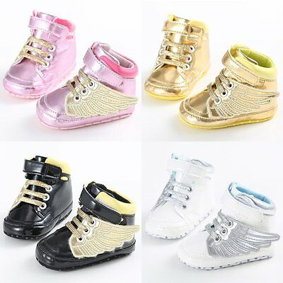 Newborn Infant Toddler Baby Boy Girl Soft Sole Crib Shoes Moccasin Sneaker 0-12M