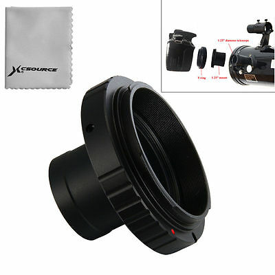 "T T2 Ring for Canon EOS Camera Lens Adapter + 1.25"" Telescope Mount Metal DC615"