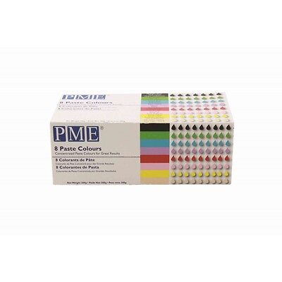 PME 8 Icing Gel Paste Colours Kit for Cake, Baking, Buttercream and Sugarcraft