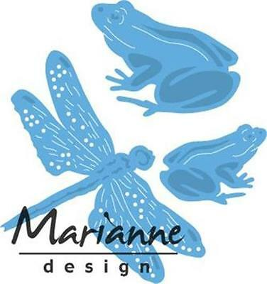 Marianne Design Creatable Die Cut Embossing Stencil Frogs And Dragonfly Lr0461