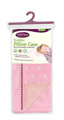 Clevamama Replacement Toddler Pillow Case (Pink) Brand New 5391514475107