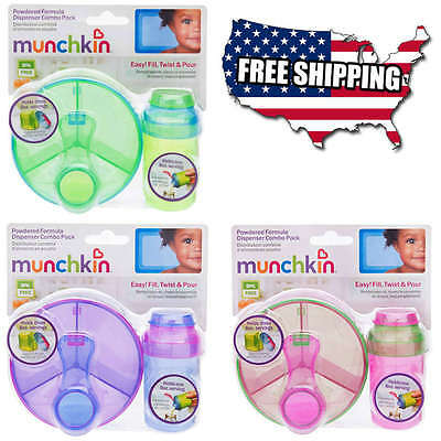 Munchkin Formula Dispenser Baby Combo Pack 1+3 Servings 8oz. Each Tight Lid NEW