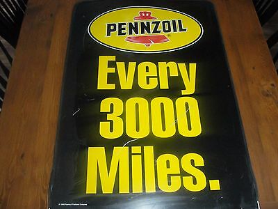 Pennzoil Sign Vintage Metal Original Two Sided