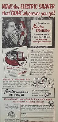 Vintage 1953 Ad(Odl15)~Norelco Electric Shaver For The Sportsman