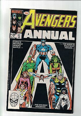 MARVEL Comic Avengers Annual #12 - Marvel 1983  $1.00 copy