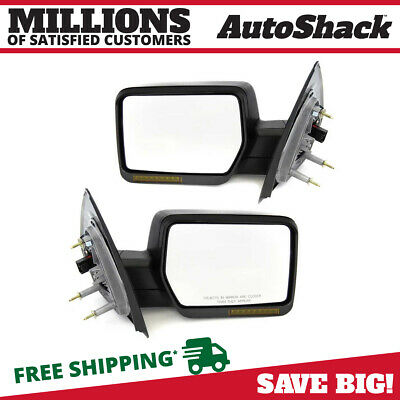 Front Pair of Left & Right Power Heated Side Mirrors fits 2004-2006 Ford F-150
