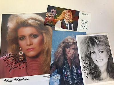 Irlene Mandrell Collectible Souvenir Sisters Singer Autographed Photos Birthday