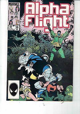 MARVEL Comic Alpha Flight 30 Jan 1986  75c  copy