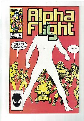 MARVEL Comic Alpha Flight 25 Aug 1985 65c  copy