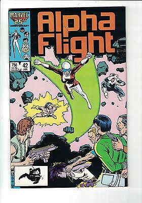 MARVEL Comic Alpha Flight 42 Jan 1987 75c  copy