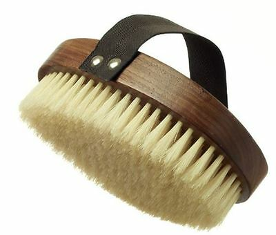 Hydrea London Walnut Wood Natural Bristle Body Brush WWS13NH
