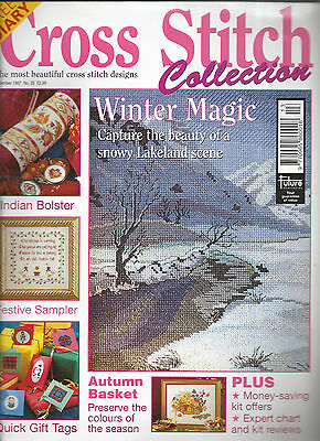 Cross Stitch Collections Magazine # 35 Snowy Lakeland - Indian Bolster Christmas