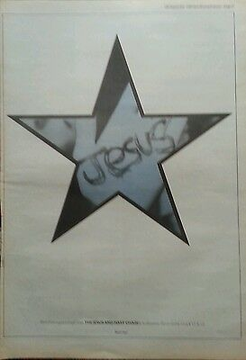 Advert Album The Jesus And Mary Chain 15 X 10 Original Poster Size 16 Sep 1989