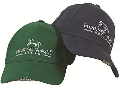 Horseware Unisex BASEBALL CAP Hat with LED LIGHT Torch Navy Green