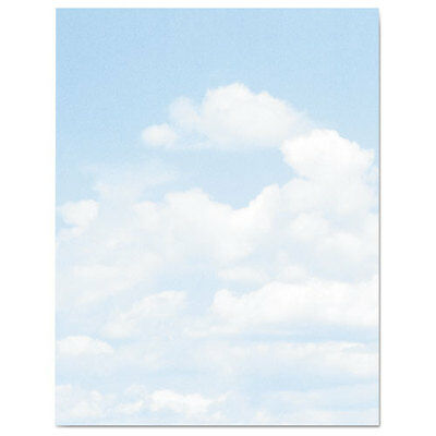 Design Suite Paper, 24 lbs., Clouds, 8 1/2 x 11, Blue/White, 100/Pack