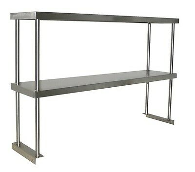 "27"" x 12"" Double Over Shelf ALL Stainless Storage NEW Commercial NSF #2078"