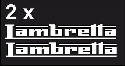 x2 Lambretta Vinyl Decal Sticker Motorbike Tank Car Van  Clssic Retro laptop