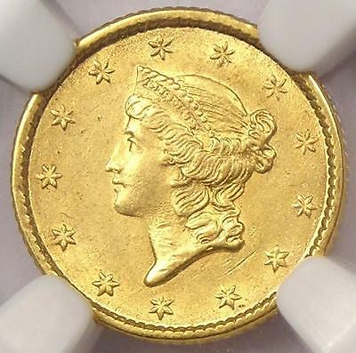 1853 Liberty Gold Dollar Coin G$1 - NGC Uncirculated (UNC) - Rare MS BU Coin