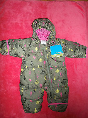 Nwt Columbia Snuggly Bunny Down Bunting Snowsuit, Size 6 Months