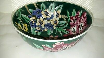 Chinese Famille Rose Ground Porcelain Bowl With Floral Pattern