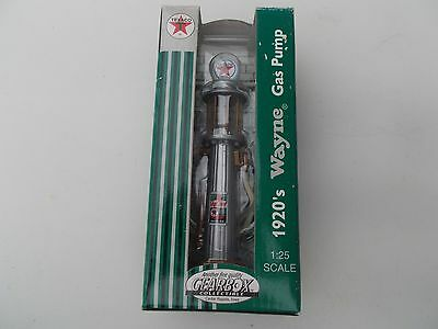 Gearbox Texaco Limited Edition 1920s Wayne Gas Pump Silver 1:25 New