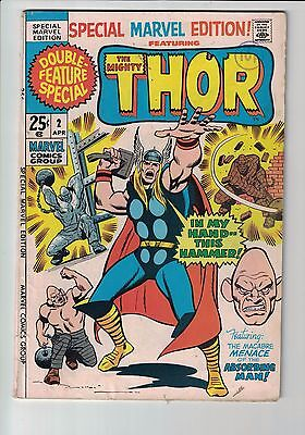 Marvel Comic SPECIAL MARVEL EDITION VOL. 1 NO. 2 Apr 1971 The Mighty Thor 25C