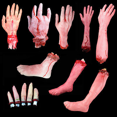 Bloody  Horror Scary Halloween Prop Fake Severed Lifesize Arm Hand Haunted House