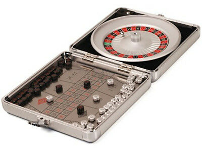 Mini Travel Roulette Game In Silver Case party gift groomsman
