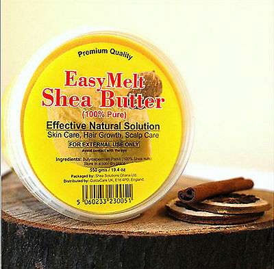 GHANA'S BEST EASY MELT 100% PURE SHEA BUTTER - WHITE 180g/280g/375g/1kg