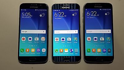 LOT of 3 Samsung Galaxy S6 32GB (2 AT&T, 1 Sprint) Very Good Cond. Only 1 issue