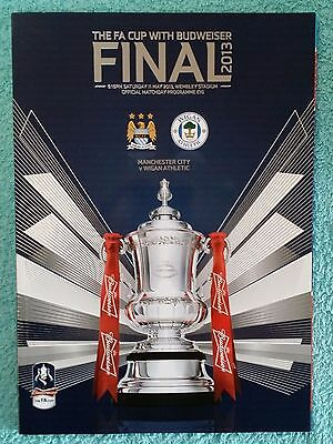 2013 - FA CUP FINAL PROGRAMME - MANCHESTER CITY v WIGAN ATHLETIC