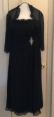 Womens Jade Black Formal Wedding  Mother Of Bride/Groom Party Dress Size 8