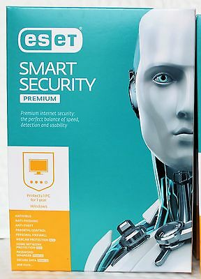 ESET Smart Security Premium 1 User 1 Year [CD-ROM] Windows XP Windows 10, 7, 8