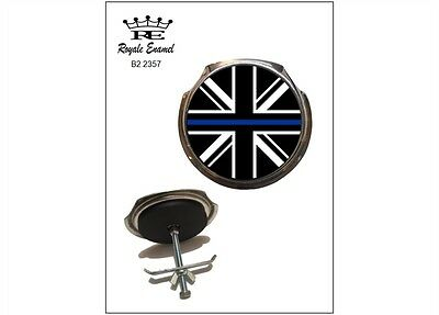 Royale Car Grill Badge & fittings - BRITISH POLICE THIN BLUE LINE - B2.2357