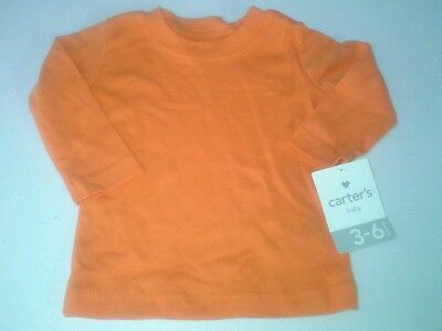 Carter's baby infant 3-6 months long sleeve orange shirt