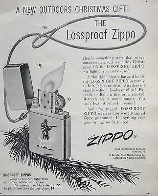 Vintage 1956 Ad(Odl6)~Zippo Lossproof Lighter For Christmas