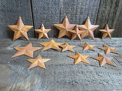 """100 pc Lot Rusty Stars 50- 2.25"""" and 50- 1.5"""" Primtive Country Metal Barn Stars"""