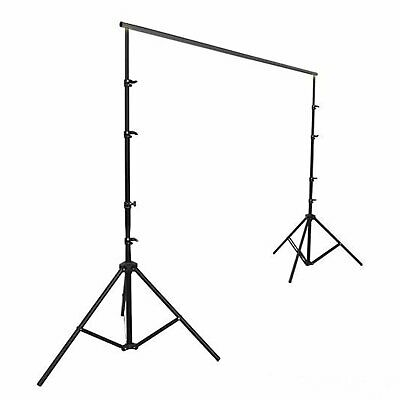 BLACK 12 x 12 ft Photo Backdrop Stand Kit Studio Stage Background Party Wedding