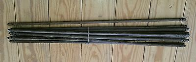 "13 RARE 1880'S 30"" ANTIQUE VICTORIAN Quartersawn STAIR RODS"