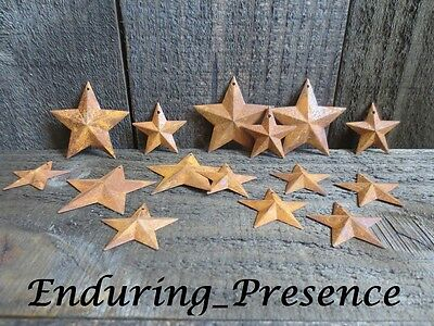 """40 pc Lot Rusty Stars 20- 2.25"""" and 20- 1.5"""" Primtive Country Metal Barn Stars"""