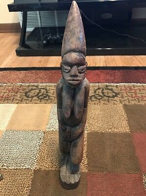 antique african wood carving nearly 16 Inches Auction Find Old Must See